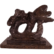 """Extremely Rare Bronze Sculpture by Jacques Lipchitz """"Sketch of Benediction I"""" 1942"""