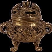 Stunning Rare Antique Chinese Bronze Dragon Incense Burner