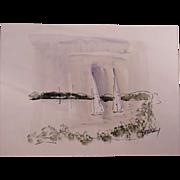 Vintage Alfred Birdsey Watercolor Painting #2, Bermuda