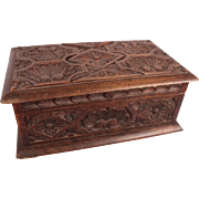 Important Large Antique c1850 Renaissance Carved Walnut Casket w/Provenance Movie Star Owned!