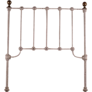 Late 1800's Cast Iron Childs headboard with Brass Finials