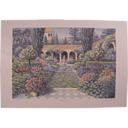 "Arthur Byrne Serigraph ""Courtyard 3"" Limited edition of 375"