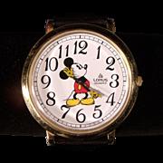Large Vintage  Lorus Mickey Mouse Wristwatch
