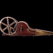 Rare Fine Antique Victorian Steampunk Belt Drive Mechanical Bellows.