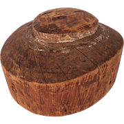 Antique Wood Hat Makers Block or Millinery Form #2