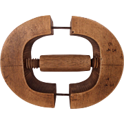 Antique Wood Hat Makers Stretcher or Millinery Form