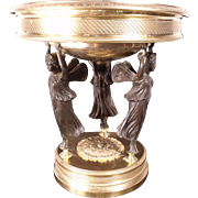 Museum Quality French 1850 Bronze Dore Epergne by Alphonse Giroux