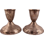 Vintage Pair of Duchin Sterling Silver Candle Sticks