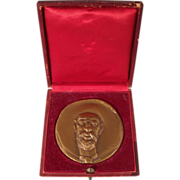 Toulouse-Lautrec Large Bronze Art Medallion