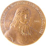 William Penn 1682-1932 Bronze Coin