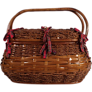 Wonderful Huge Vintage Picnic Basket set