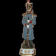 SALE Capodimonte Porcelain Napoleon Era Soldier Figurine signed by Di Pietro ~ 55/1260