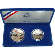 SOLD 1986-S U.S. Mint Silver Liberty Proof Set ~ 2 coin set ~ Uncirculated Proof Coins