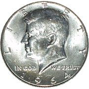 1964 Kennedy Silver Half Dollar - 90% Silver - Beautiful Uncirculated Coin - Philadelphia Mint