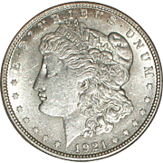 SOLD 1921 Morgan Silver Dollar - Very Nice 94 year old Coin - Philadelphia Mint - Free Shippin