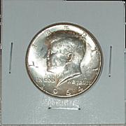 1964 Kennedy Silver Half Dollar - 90% Silver - Philadelphia Mint