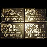 4 sets of 50 States Commemorative Quarters Set (5 coins per set) - 2000, 2001, 2002 ...