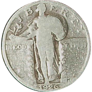 1926 Standing Liberty Silver Quarter - 90 year old Circulated Coin - Philadelphia Mint