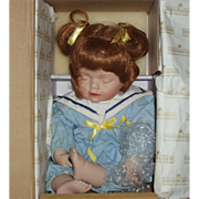"REDUCED Ashton Drake ""NICOLE NEEDS A NAP"" Porcelain Doll & Bear - Original Box/C"