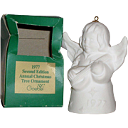 "Goebel 1977 Annual Christmas Tree Ornament ""Angel Playing Mandolin"" with Bell"