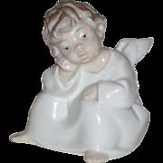 """SALE Vintage Lladro """"Angel Thinking"""" Porcelain Figurine (#4539)"""