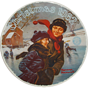 "Norman Rockwell 1982 ""Christmas Courtship"" Limited Edition Collector Series Plate -"