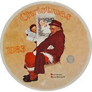 "Norman Rockwell 1983 ""Santa in the Subway"" Limited Edition Collector Series Plate -"