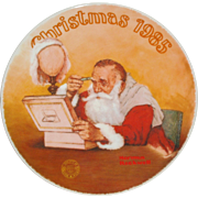 "Norman Rockwell 1985 ""Grandpa Plays Santa"" Limited Edition Collector Series Plate -"