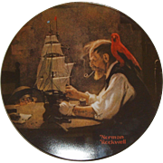 "Norman Rockwell 1980 ""The Ship Builder"" Limited Edition Collector Series Plate - COA"