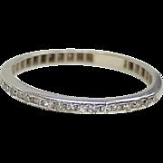 Art Deco Platinum & Diamond Band / Ring .20 ctw