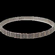 Sterling Silver SOLID Bangle Bracelet by Danecraft