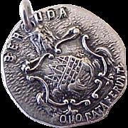 Vintage Bermuda Heraldic Crest Charm Sterling Silver c.1950's