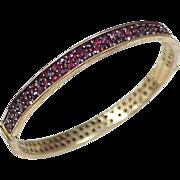 Bohemian Garnet Bangle Bracelet ~ Germany