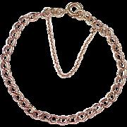 Vintage European 9K Rose Gold Link Bracelet circa 1950-60's