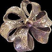 Vintage Sterling Silver Brooch by Danecraft with Oak Leaf Design