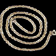 """Vintage 18K Gold Chain Necklace 22-1/2"""" Length ~ 11.7 Grams, Diamond Cut ..."""