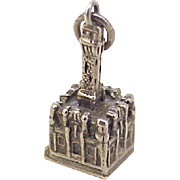 Vintage Chicago Water Tower Charm Sterling Silver, Three Dimensional