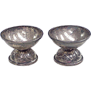 Vintage Sterling Silver Egg Cups, Taxco / Mexico