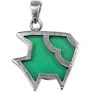 Colorful Fish Charm Sterling Silver, Plique a Jour or Stained Glass Look