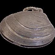 Vintage Clam Shell Charm circa 1960's Sterling Silver, Three Dimensional