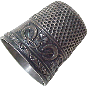 Victorian LUCKY Sterling Silver Sewing Thimble  by Stern Bros. Sterling Silver