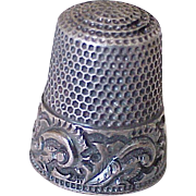 Sewing Thimble 14k Gold & Sterling Silver Size 8