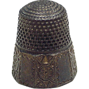 Antique Sewing Thimble Sterling Silver by Simons Brothers Co