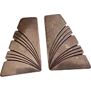 Vintage Navajo Crafted Earrings Sterling Silver circa 1980's, Sally Yazzie