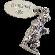 Yellowstone BEAR Vintage Charm Sterling Silver circa 1980's