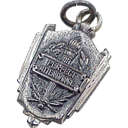 Vintage Sterling Silver Perfect Attendance Award Charm circa 1960's