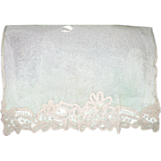 SOLD Victorian through very early 1900's handmade Battenburg lace and net curtain panel or vei