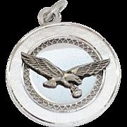 La Mode Sterling Silver Eagle Charm/Pendant