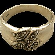 SALE Vintage Marcasite Sterling Silver Ring