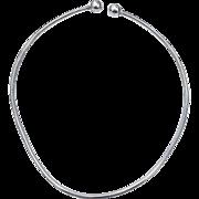 SALE Unique Sterling Silver Taxco Wire Screw Ball Necklace